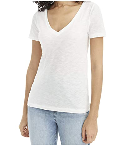 J.Crew Vintage Cotton V-Neck Tee (White) Women