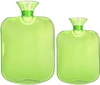 بطری های آب گرم داغ شفاف لاستیکی Attmu 3 Pack برای 3 اندازه مختلف ، 2 لیتر ، 1 لیتر و 0.5 لیتر - سبز