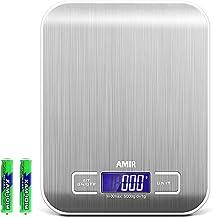 AMIR Balance de Cuisine Electronique, Balance de Cuisine Précision, Balance de Précision, 5kg/11lb, Petite Balance Aliment...