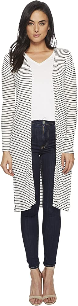 Three Dots - Hyannis Stripe Long Sleeve Cardigan