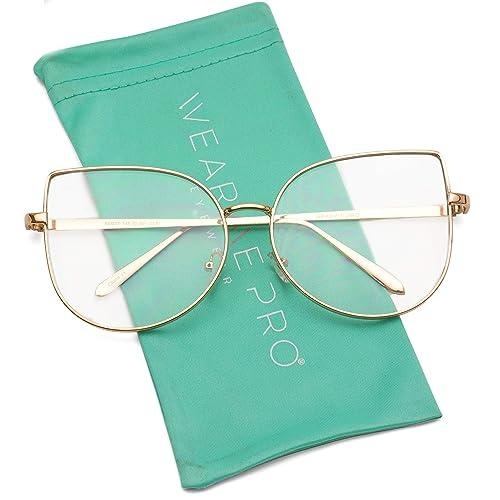 872a8940c WearMe Pro - Clear Thin Frame Oversized Delicate Non- Prescription Glasses