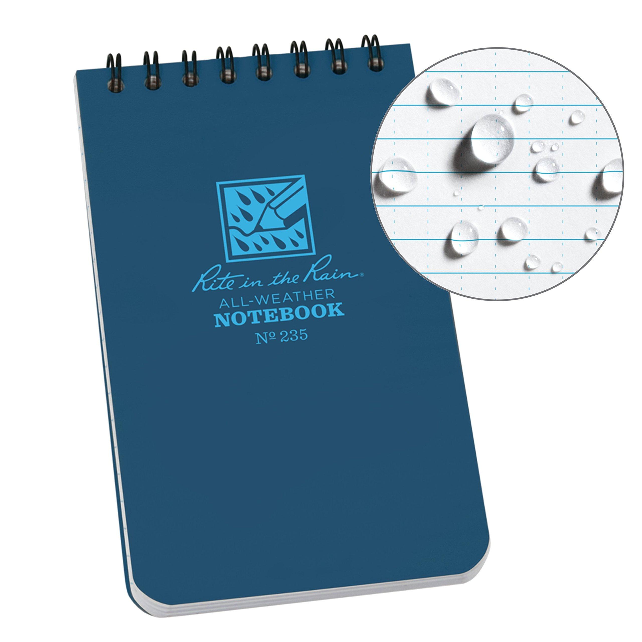 Cuaderno de notas, de Rite in the Rain, color azul 1 Pack: Amazon.es: Oficina y papelería