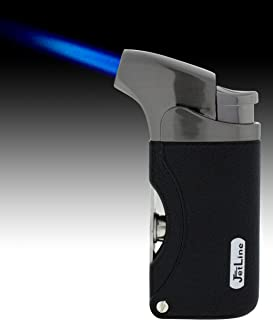 JetLine Dante Torch Flame Lighter (Chrome Black)