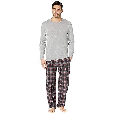 Jockey Flannel Sleep Pants Jersey Top Box Set (Grey) Men