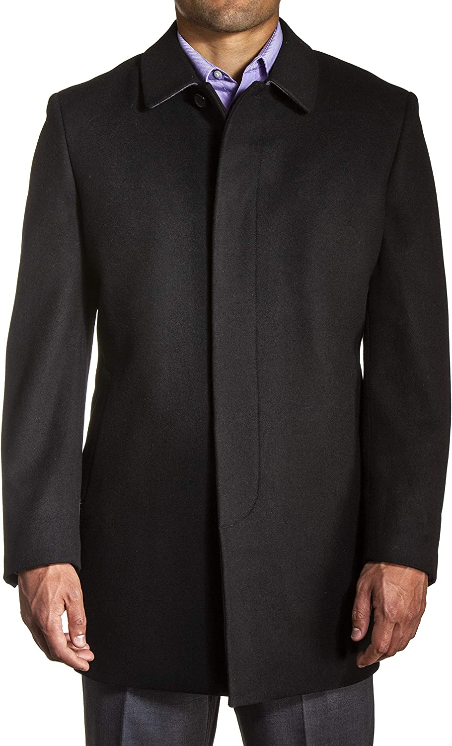 Mid-Thigh Tyson Tailored Topcoat in Black