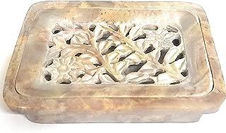 Square Soap Dish Agra- Weekend Sale Marble Soap Dish Rectangular Shape Polished Shiny Soapstone Dish Holder Beautifully Crafted Bathroom Accessory