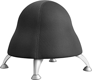 Safco Products Runtz Ball Chair,  Black Licorice,  Anti-Burst Exercise Ball,  Active Seating