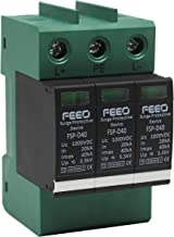 FEEO DC SPD 1000V 20 to 40 kA Plastic Solar Photovoltaic Surge Protection Device , Black and Green