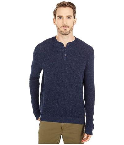 Polo Ralph Lauren Cotton Henley Sweater (Navy Ragg) Men