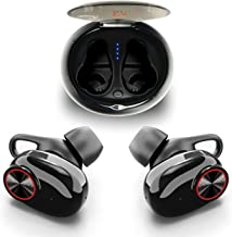 True Wireless Earbuds Bluetooth 5.0 by YOZZ Play | Cordless Headphones with Build-in Microphone | 3D Stereo Bass Sound & Noise Cancelling Headset with Charging Box | 5 Hours Music Play Earphones