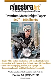"5"" X 7"" Premium Arctic Matte Inkjet Photo Paper - 100 Sheets photo"