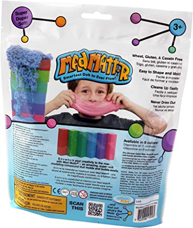 Mad Mattr Super-Soft Modelling Dough Compound that Never Dries Out by Relevant Play, 10 Ounces, Teal