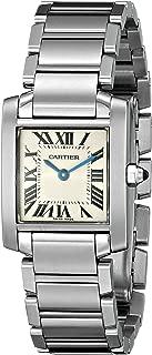 Women's W51008Q3 Tank Francaise Stainless Steel Bracelet Watch