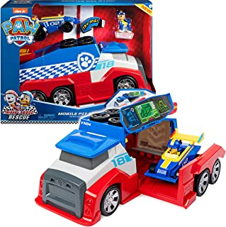 PAW Patrol Ready, Race, Rescue Mobile Pit Stop Team-voertuig incl. Chase figuur & voertuig