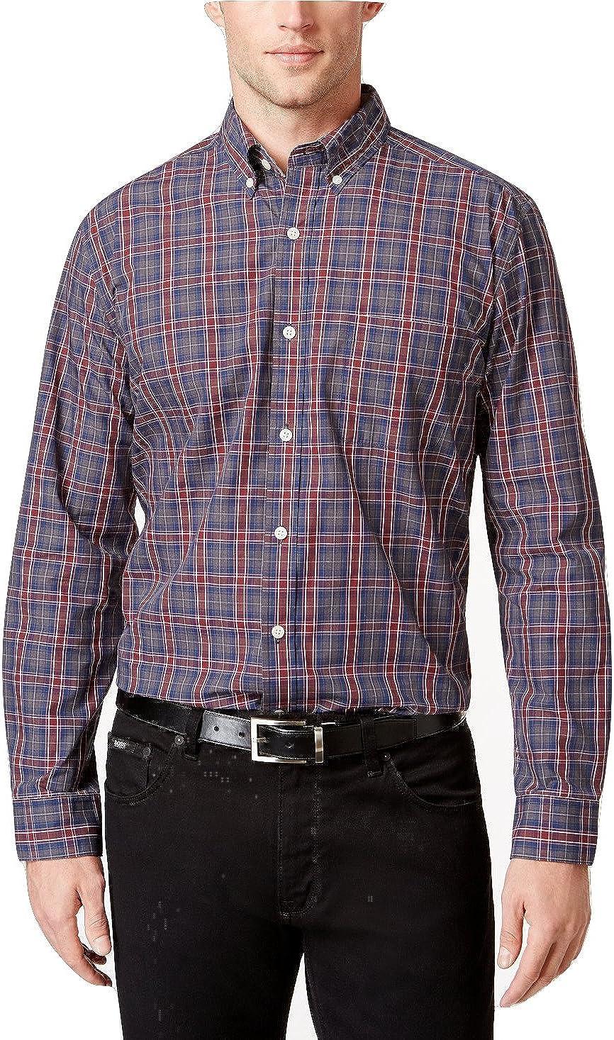 Tricots St. Raphael Mens Plaid Button Up Shirt