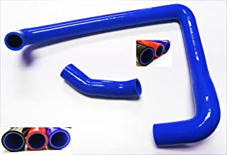 1990 1991 1992 1993 1994 1995 1996 Nissan 300ZX TT Twin Turbo Z32 Fairlady with VG30DETT Engine Silicone Radiator Coolant Hose Kit with Clamps 2pcs (Blue)