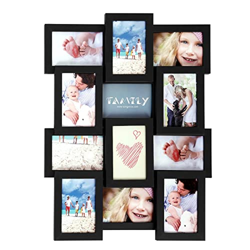 Multiple picture frames family Wooden Songmics Picture Frames For 12 Photos In 4 Amazoncom Photo Frame Multiple Family Pictures Amazoncom