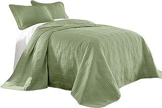 Best sage green bedspreads king size Reviews