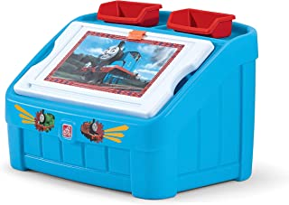 Step2 849000 Thomas The Tank Engine 2-in-1 Toy Box and Art Lid, Blue