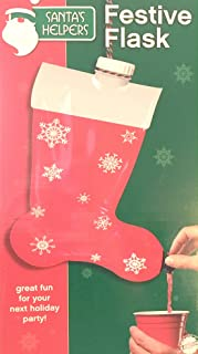 Festive Christmas Stocking Flask Party Gag Gift Alcohol Dispenser Drink Santa