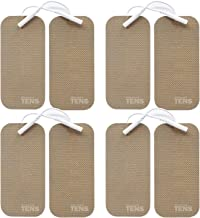 TENS Wired Electrodes Compatible with TENS 7000, Premium Replacement Pads for TENS Units, Discount TENS Brand (2in x 4in, 8 Pack)