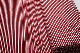Mollipolli Jersey Little Darling - Tela (0,5 m), diseño a Rayas, Color Rojo y Blanco