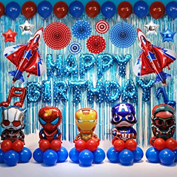 U&X 12 Pack Super Hero Birthday Party Decorations Set, Kids Party Supplies  Superhero Balloons Decoration for Boys Theme Party Favor