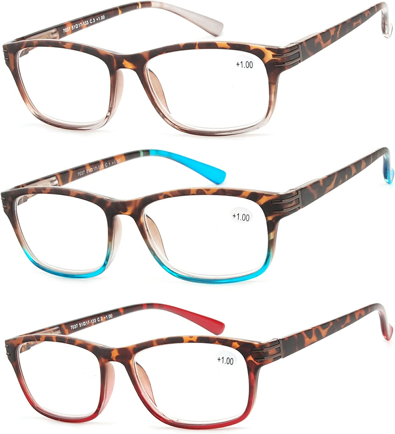 Reading Glasses Oakland Mall 3 Pair Great Value Men a Stylish Fashion Readers cheap