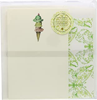 C.R. Gibson Cid Pear Imprintable Invitations and Lined Envelopes, Ice C.R.eam Scoop, 10 Count