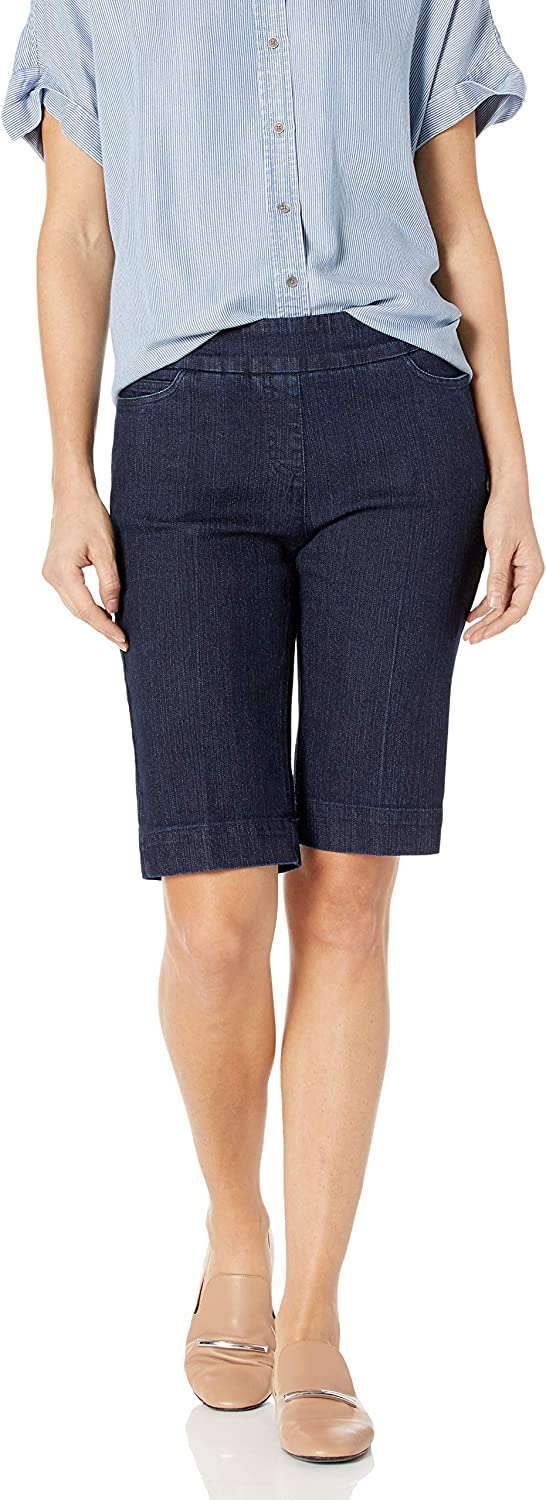 SLIM-SATION Women's Wide Band Pull-on Solid Walking Short