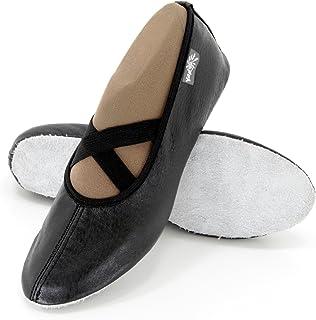 ebbb53123b1 Yaro Zapatillas de Ballet, Gimnasia Zapatos, Zapatillas, de Piel, Talla 23  hasta