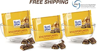 Milk chocolate with Cornflakes 3 x 100 g, Ritter Sport/Germany