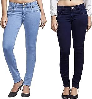 ADBUCKS Women's Slim Fit Jeans (Pack of 2)