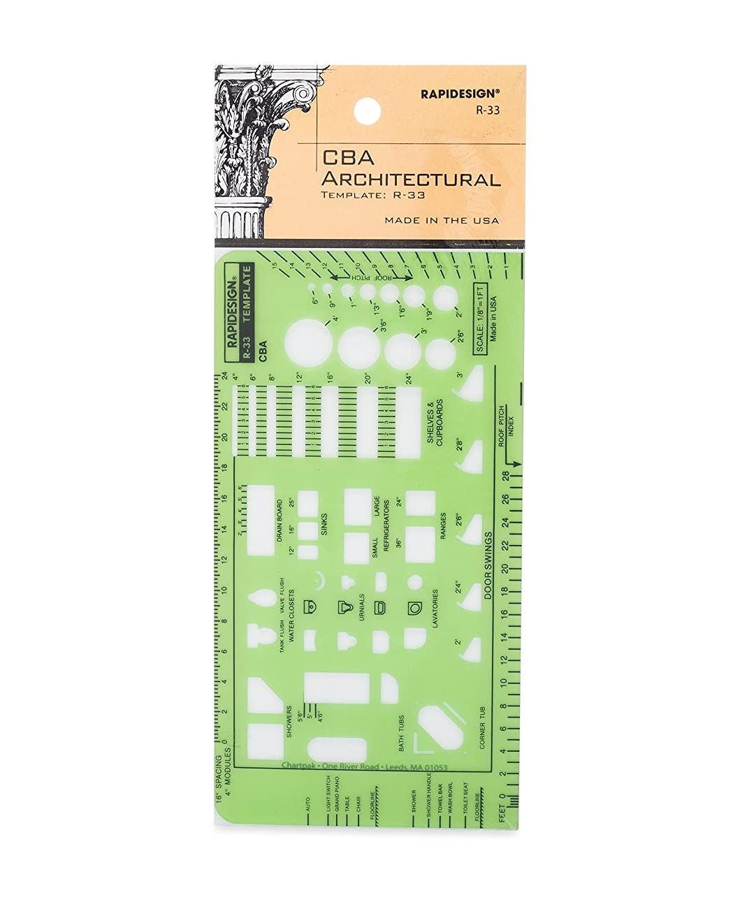 Rapidesign CBA Architectural Template, 1 Each  (R33)