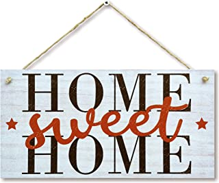 """CARISPIBET Home Sweet Home   Home Decor Sign Entrance Decoration Welcoming House Decorative Wall Art House Decoration 6"""" x..."""