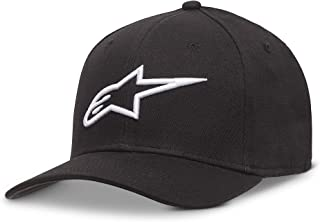 Alpinestars Men's Curved Bill Structured Crown Flex Back 3D Embroidered Logo Flexfit Hat
