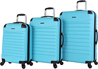 Ciao Luggage Voyager 3 Piece Set Collection Hardside Travel Suitcase Spinner with Spinner Wheels