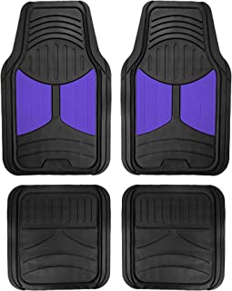 FH Group F11313BLUE Indigo Blue Rubber Floor Mats Universal Fit (Blue Indigo Color Full Set Trim to Fit Floor Mats)