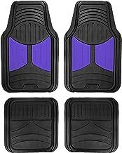 FH Group F11313 Monster Eye Full Set Rubber Floor Mats, Indigo/Black Color- Fit Most Car, Truck, SUV, or Van