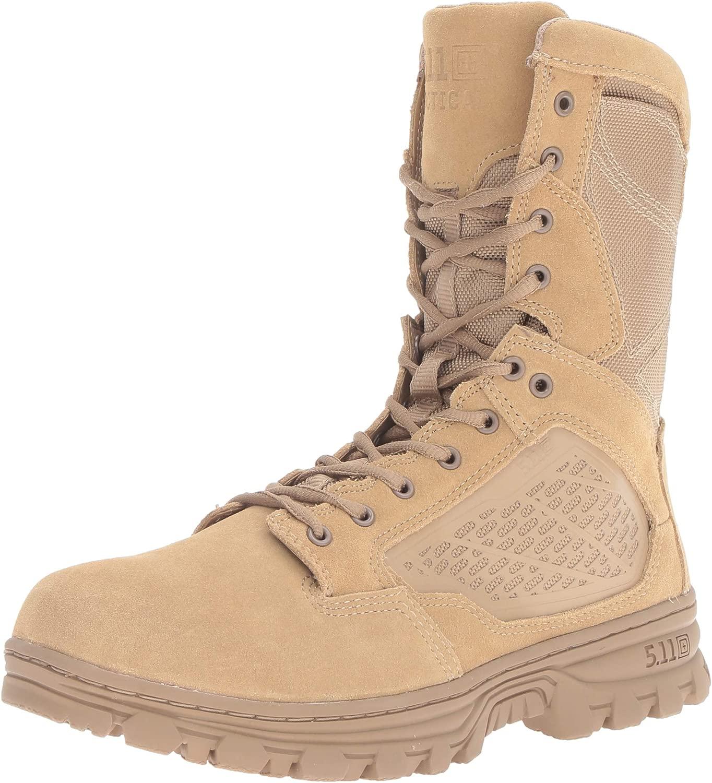 5.11 Men's EVO 8  Desert Side Zip avvio Military & Tactical, Coyote, 10 M US