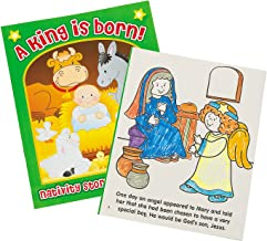 Fun Express - Nativity Coloring Book with Story for Christmas - Stationery - Activity Books - Coloring Books - Christmas - 12 Pieces