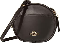 COACH Smooth Leather Canteen,IM/Black