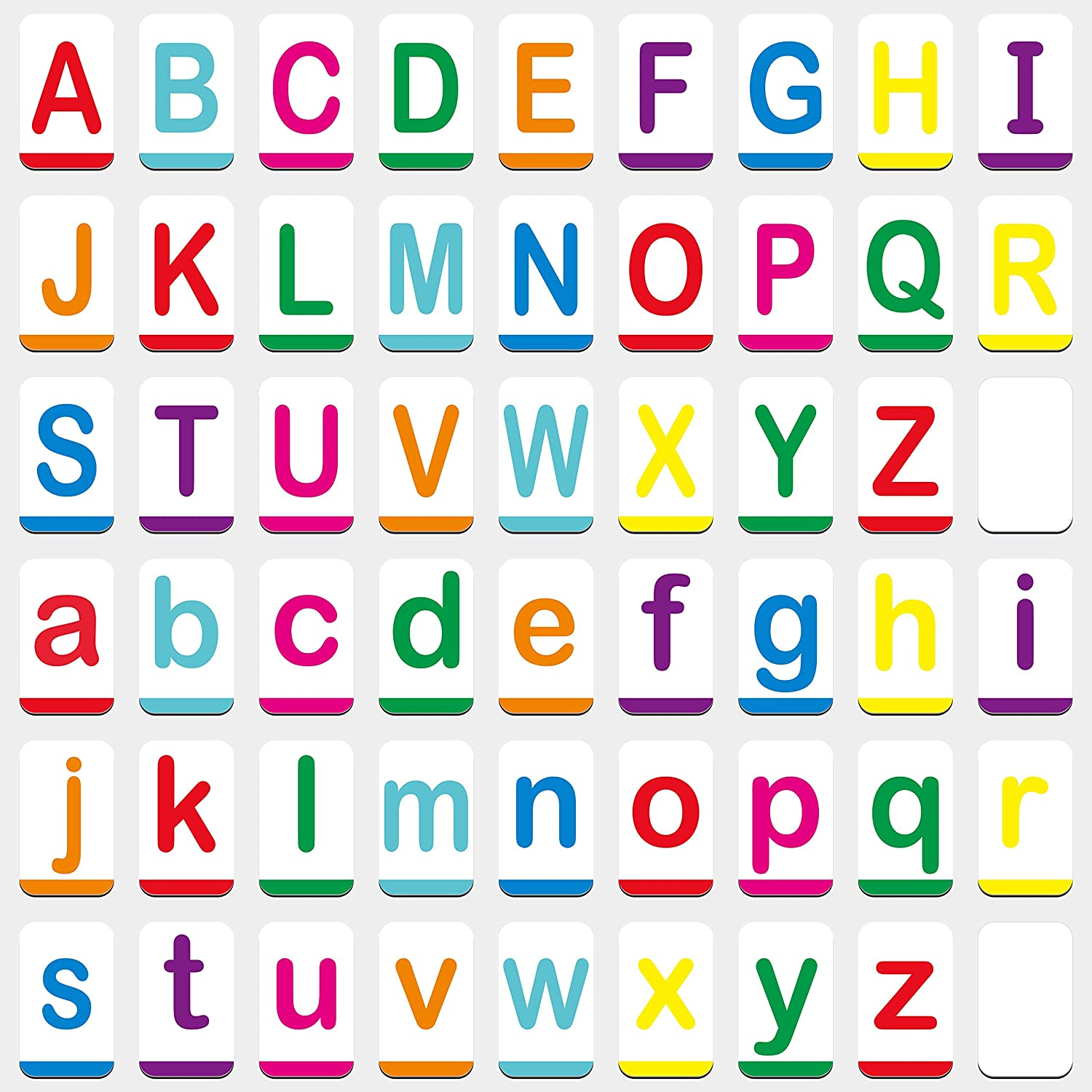 Hebayy Magnetic Alphabet Ranking TOP12 Max 76% OFF ABC Flash Uppercase Large an with Cards