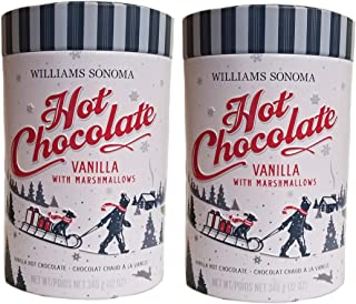 Williams Sonoma Premium Guittard Vanilla with Marshmallows Hot Chocolate - 2 (12 oz. Tins)
