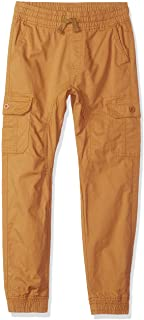 Southpole Boys' Big Washed Stretch Ripstop Cargo Jogger Pants, New Wheat, Medium