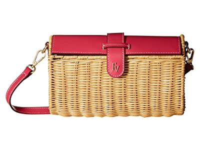 Frances Valentine Betsy Crossbody (Natural/Bright Pink) Handbags