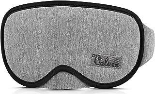 Upgraded Sleep Mask, VOLUEX 3D Sleeping Mask for Men Women Kids, 100% Blocking Light Out, Breathable Memory Foam, Adjustable Washable Contoured Eye Mask for Sleeping Blindfold Mask for Travel - Gary
