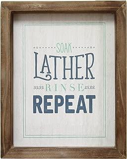 Stratton Home Decor Soap, Lather, Rinse, Repeat Wall Art, Blue