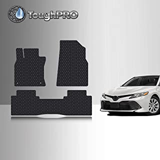 TOUGHPRO Floor Mat Accessories Set (Front Row + 2nd Row) Compatible with Toyota Camry - All Weather - Heavy Duty - (Made in USA) - Black Rubber - 2018, 2019, 2020, 2021