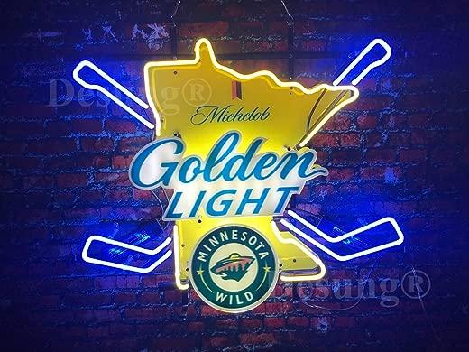 ✅Desung New 24″x20″ Minnesota Sports Team Michelob Ultra Golden Light Neon Sign Man Cave Bar Pub Beer Neon Lamp Real Glass Neon Light DX16 #Lighting & Ceiling Fans